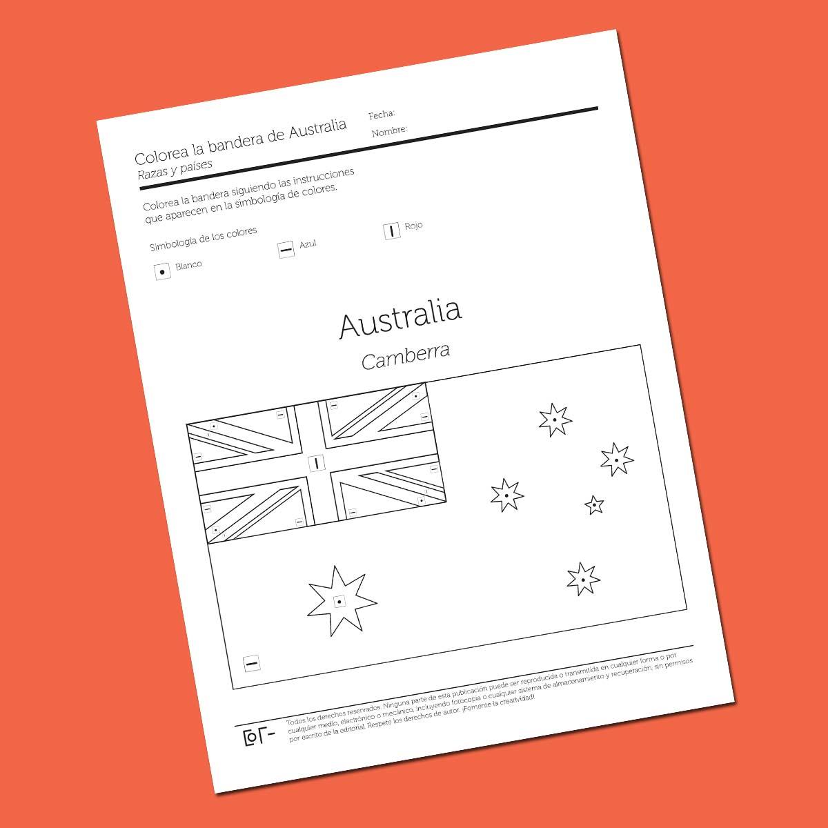 Fantástico Colorear Bandera Australiana Elaboración - Ideas Para ...