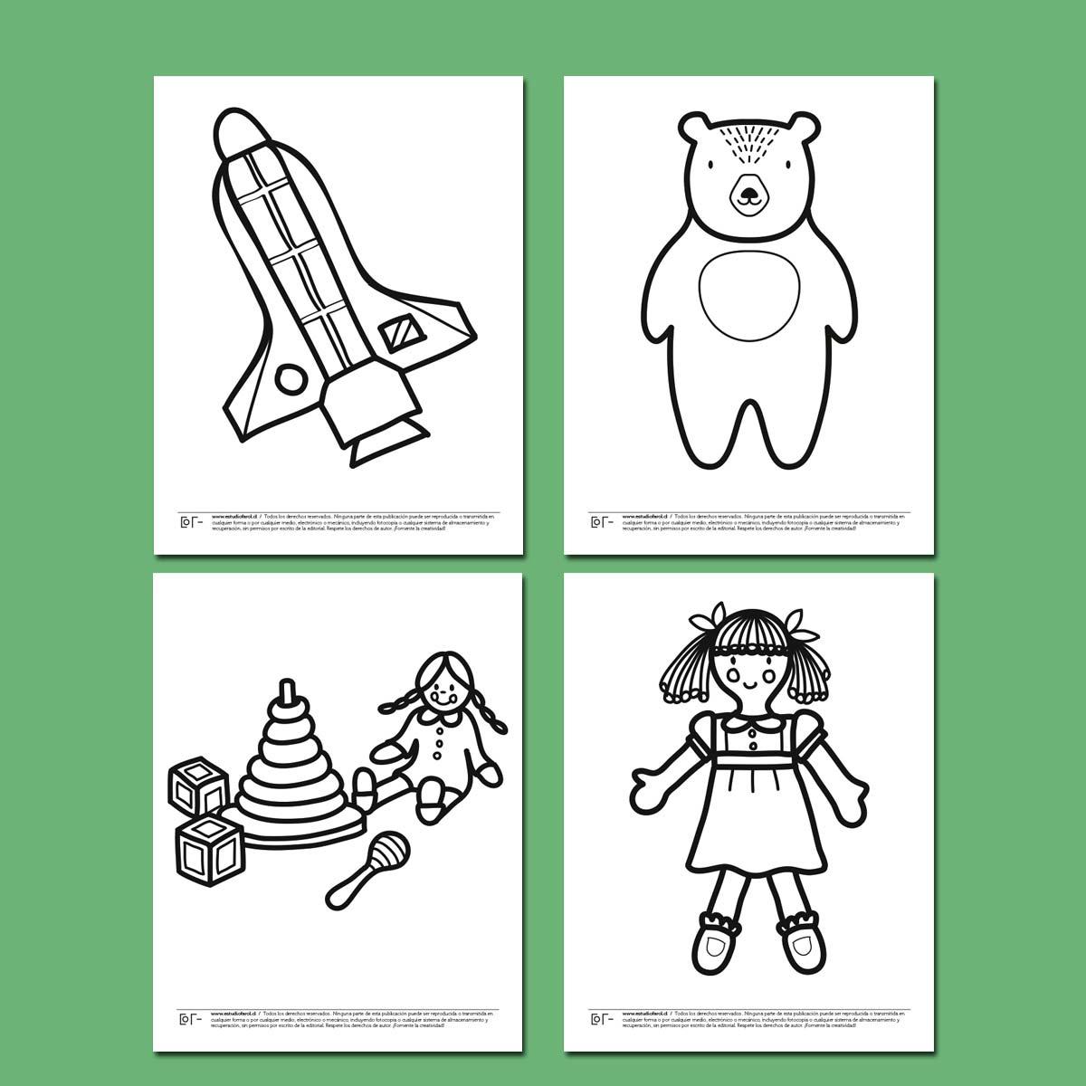 Dibujos para colorear 2 | Estudio Farol
